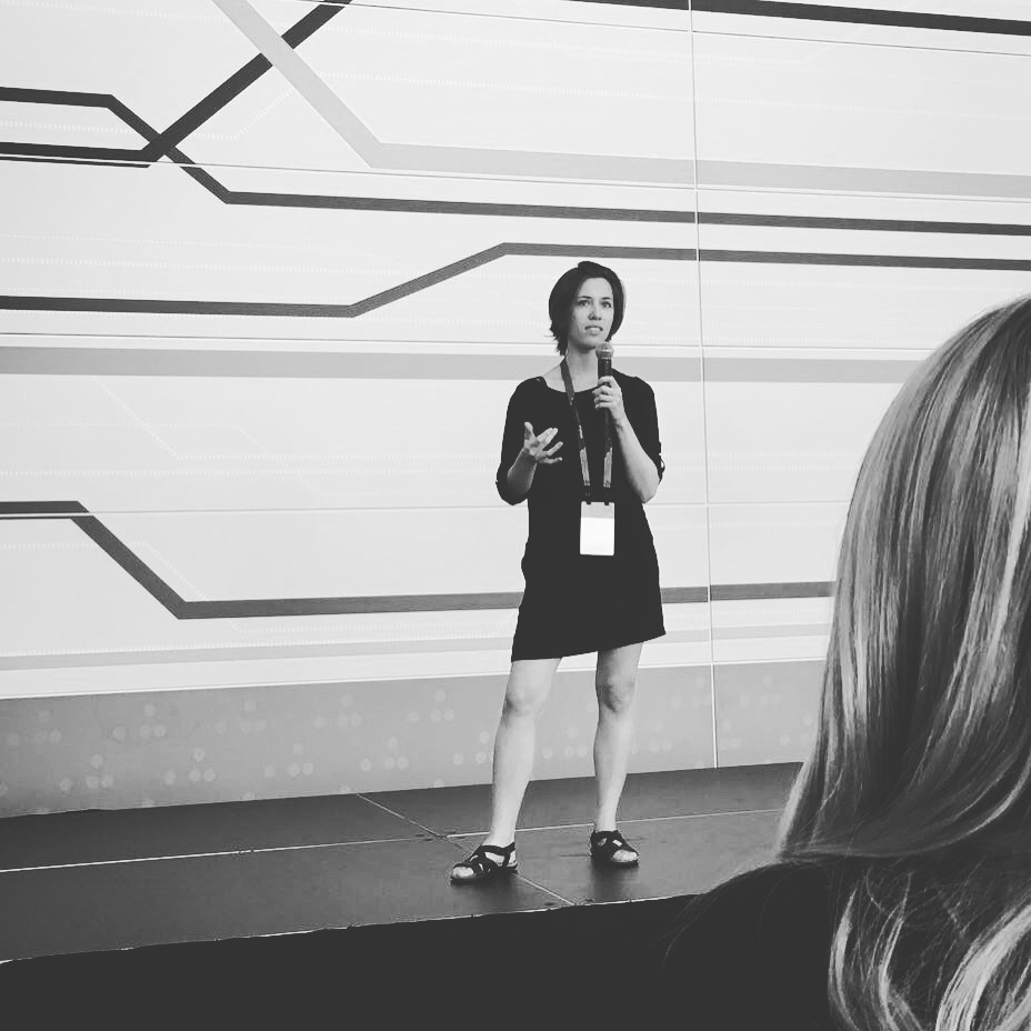 shannon speaking at oculus connect 4